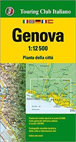 Genua, Genova 1:12.500 9788836571604  TCI Touring Club of Italy   Stadsplattegronden Ligurië, Piemonte, Lombardije