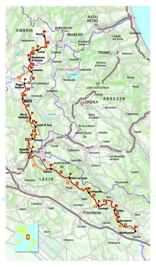 The Way of St Benedict 9788861890954 Simone Frignani Terre di Mezzo   Meerdaagse wandelroutes, Wandelgidsen Italië