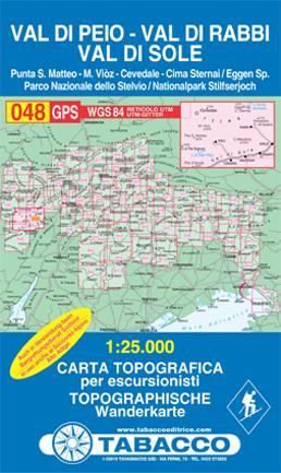 TAB-48 Val di Peio, Val di Rabbi, Val di Sole   Tabacco wandelkaart 9788883150692  Tabacco Tabacco 1:25.000  Wandelkaarten Zuidtirol, Dolomieten, Friuli, Venetië, Emilia-Romagna