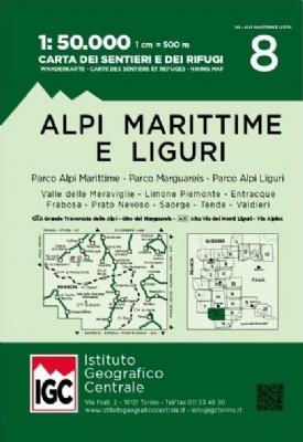 IGC-08: Alpi Marittime e Liguri 9788896455630  IGC IGC: 1:50.000  Wandelkaarten Ligurië, Piemonte, Lombardije