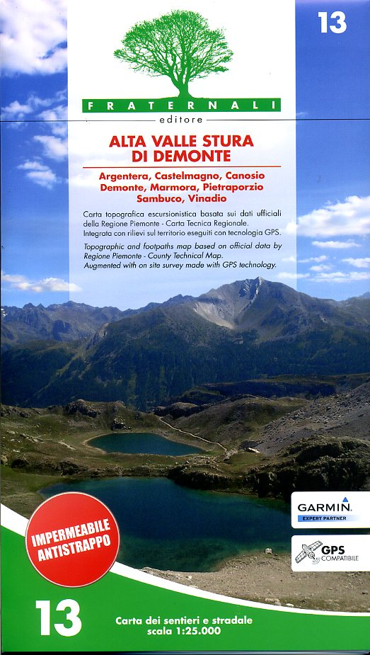 FRA-13  Alta Valle Stura di Demonte   wandelkaart 1:25.000 9788897465089  Fraternali Editore   Wandelkaarten Ligurië, Piemonte, Lombardije