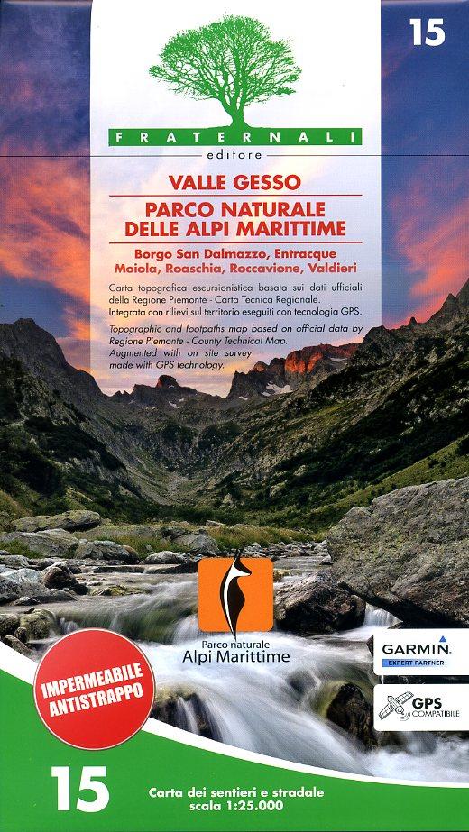 FRA-15  Valle Gesso | wandelkaart 1:25.000 9788897465119  Fraternali Editore   Wandelkaarten Ligurië, Piemonte, Lombardije