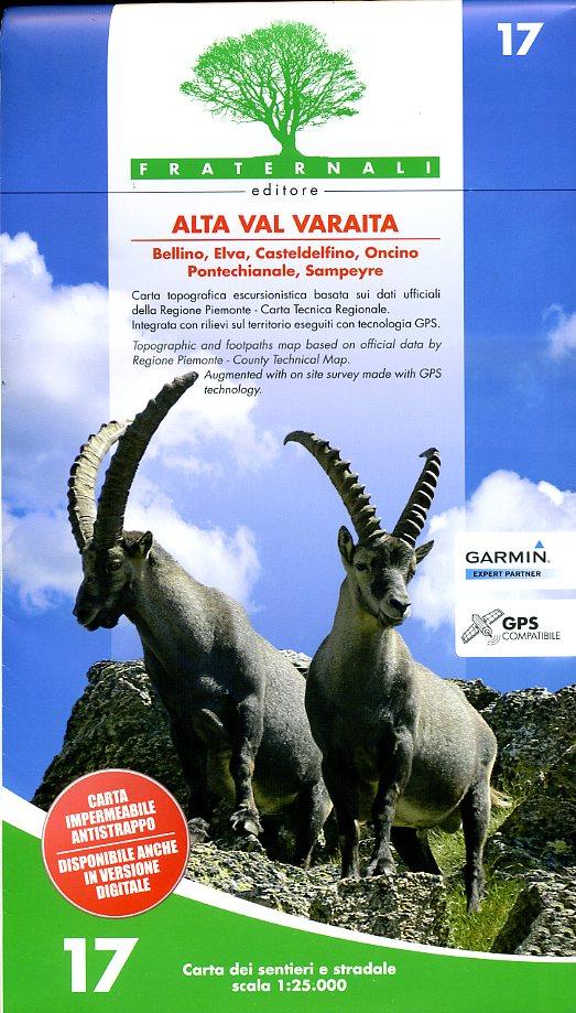 FRA-17  Alta Val Varaita | wandelkaart 1:25.000 9788897465157  Fraternali Editore   Wandelkaarten Ligurië, Piemonte, Lombardije