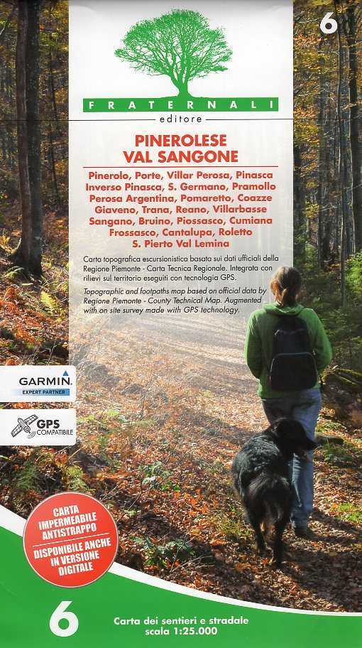FRA-06  Pinerolese e Val Sangone   wandelkaart 1:25.000 9788897465218  Fraternali Editore   Wandelkaarten Ligurië, Piemonte, Lombardije