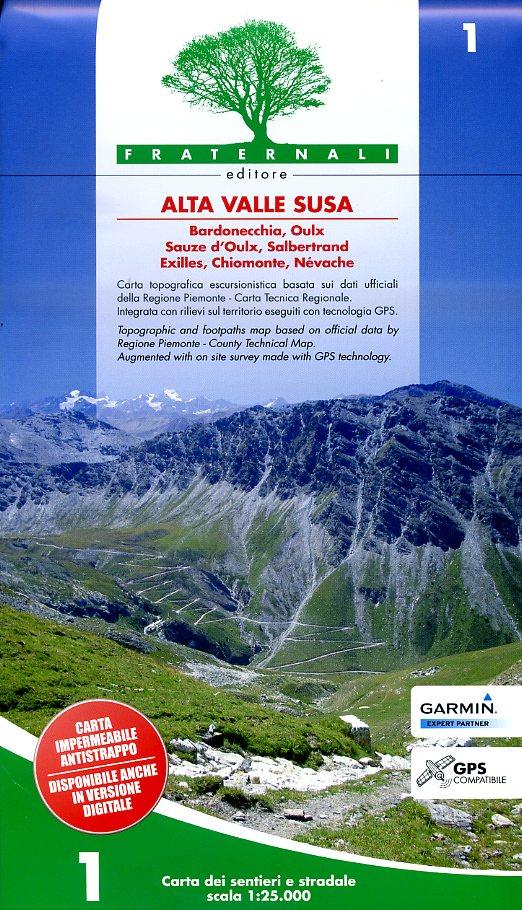 FRA-01 Alta Valle Susa | wandelkaart 1:25.000 9788897465225  Fraternali Editore   Wandelkaarten Ligurië, Piemonte, Lombardije