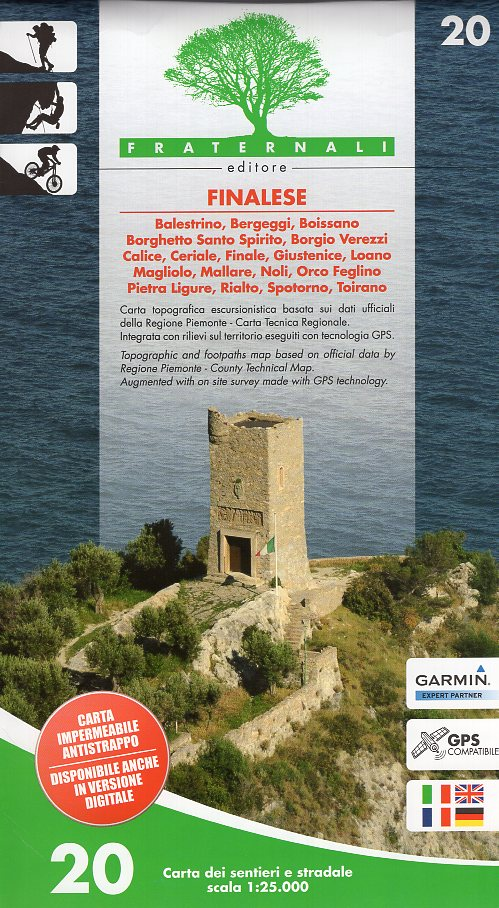FRA-20  Finalese | wandelkaart 1:25.000 9788897465263  Fraternali Editore   Wandelkaarten Ligurië, Piemonte, Lombardije