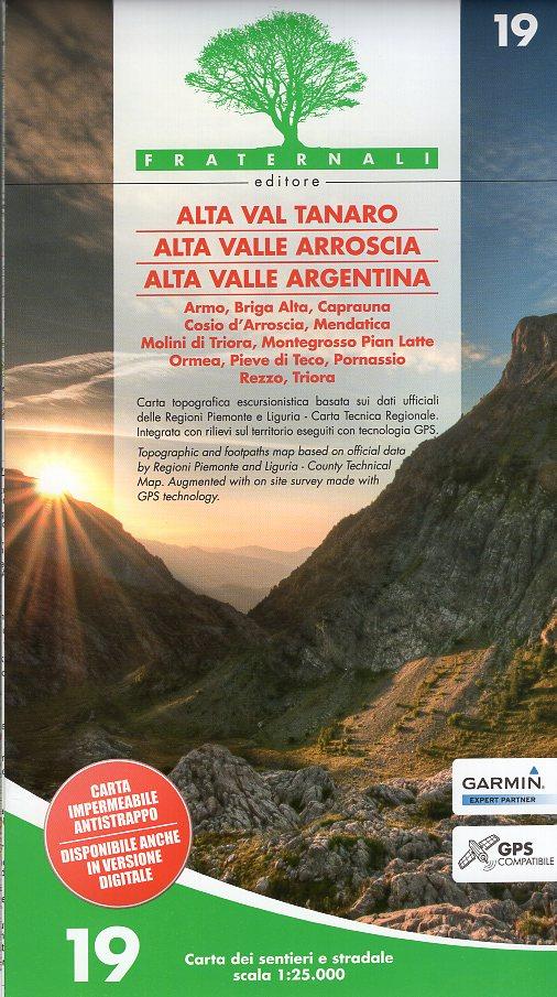FRA-19  Alta Val Tanaro    wandelkaart 1:25.000 9788897465270  Fraternali Editore   Wandelkaarten Ligurië, Piemonte, Lombardije