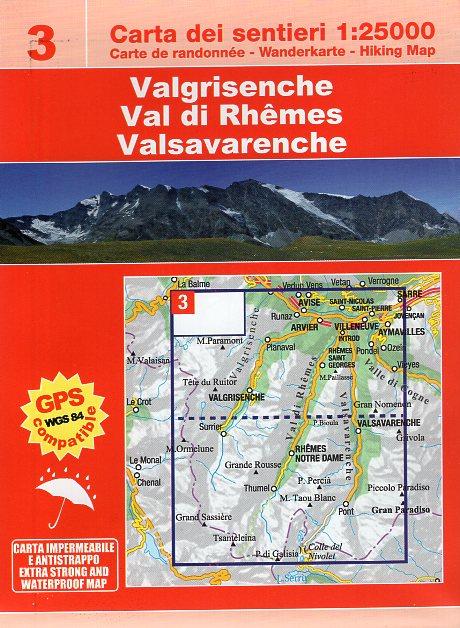 ESC-03  Val di Rhêmes, Valgrisenche | wandelkaart 1:25.000 9788898520633  Escursionista   Wandelkaarten Ligurië, Piemonte, Lombardije