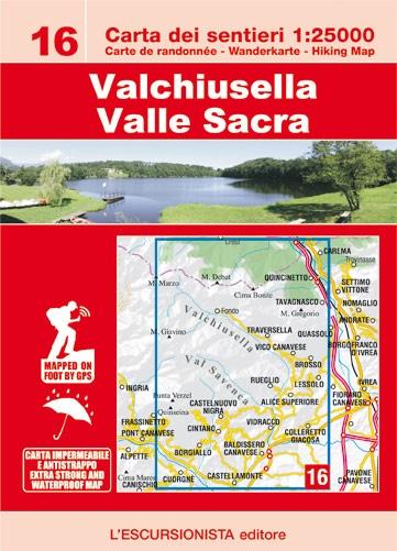 ESC-16  Valchiusella, Valle Sacra   wandelkaart 1:25.000 9788898520756  Escursionista   Wandelkaarten Ligurië, Piemonte, Lombardije