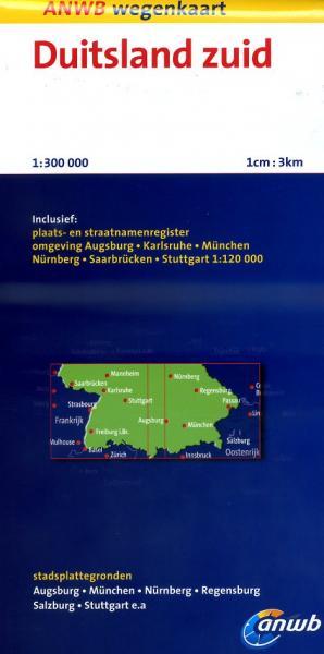 Duitsland Zuid 1:300.000 9789018036430  ANWB Wegenkaarten  Landkaarten en wegenkaarten Duitsland