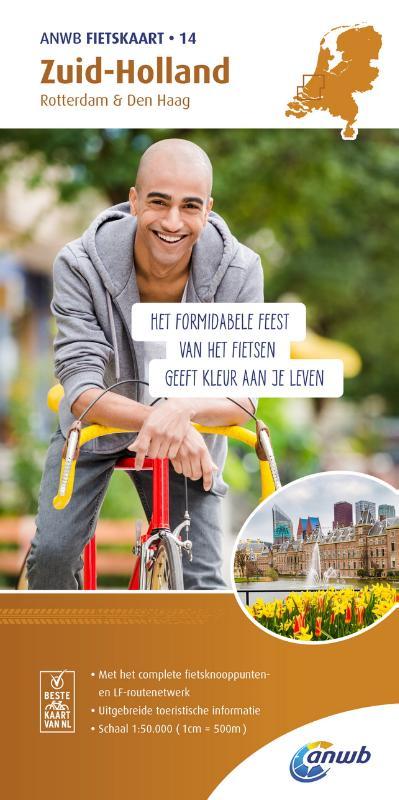 AF-14  Zuid-Holland - ANWB fietskaart 1:50.000 9789018041854  ANWB ANWB fietskaarten 50.000  Fietskaarten Den Haag, Rotterdam en Zuid-Holland