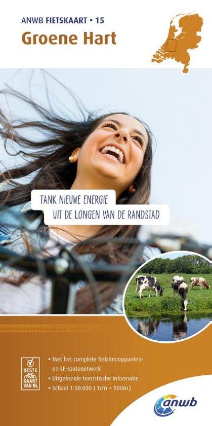 AF-15  Groene Hart - ANWB fietskaart 1:50.000 9789018041861  ANWB ANWB fietskaarten 50.000  Fietskaarten Den Haag, Rotterdam en Zuid-Holland