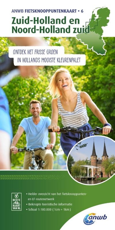 TK-6  Zuid-Holland en Noord-Holland 1:100.000 9789018041977  ANWB ANWB - fietskaarten 100.000  Fietskaarten West Nederland