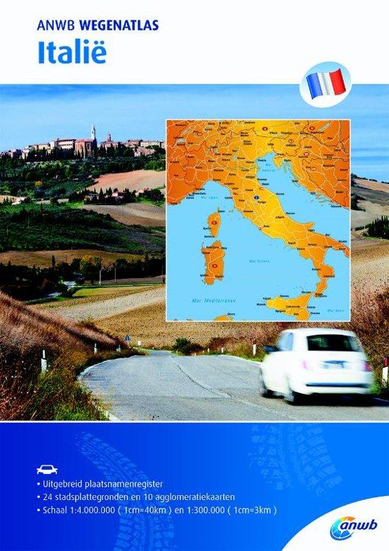 ANWB Wegenatlas Italië 1/300.000 9789018043087  ANWB ANWB Wegenatlassen  Wegenatlassen Italië