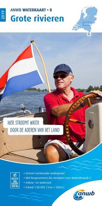 WTK-08 Grote Rivieren Waterkaart 9789018044787  ANWB ANWB Waterkaarten  Watersportboeken Nijmegen en het Rivierengebied