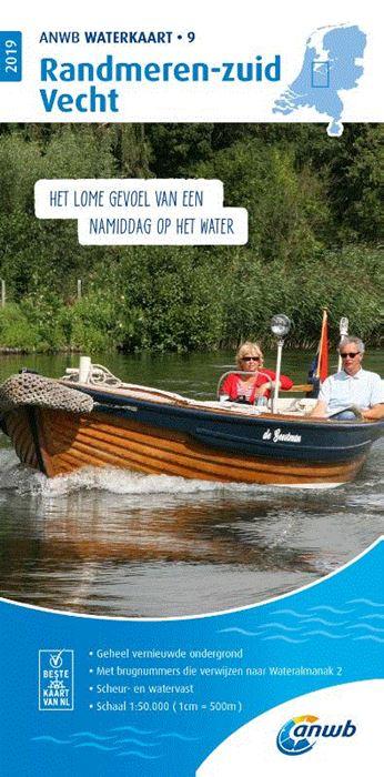 WTK-09 Randmeren - zuid / Vecht Waterkaart 9789018044794  ANWB ANWB Waterkaarten  Watersportboeken Flevoland en het IJsselmeer, Utrecht
