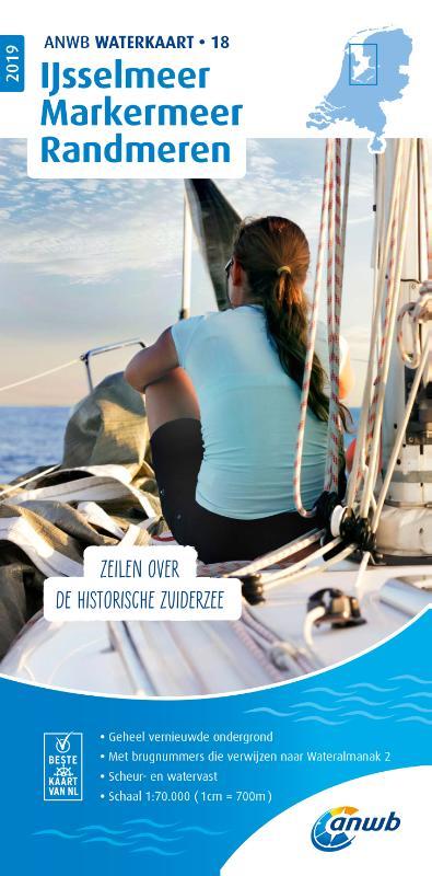 WTK-18 IJsselmeer-Markermeer / Randmeren Waterkaart 9789018044886  ANWB ANWB Waterkaarten  Watersportboeken Flevoland en het IJsselmeer
