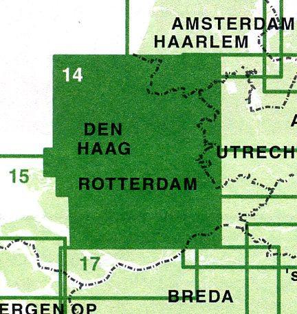 FFK-14 Zuid Holland noord 1:50.000 9789028724488  Falk Fietskaarten met Knooppunten  Fietskaarten Den Haag, Rotterdam en Zuid-Holland