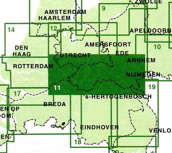 FFK-11  Rivierenland 9789028724990  Falk Fietskaarten met Knooppunten  Fietskaarten Nijmegen en het Rivierengebied