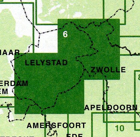 FFK-06  Flevoland  1:50.000 9789028725034  Falk Fietskaarten met Knooppunten  Fietskaarten Flevoland en het IJsselmeer, Kop van Overijssel, Vecht & Salland