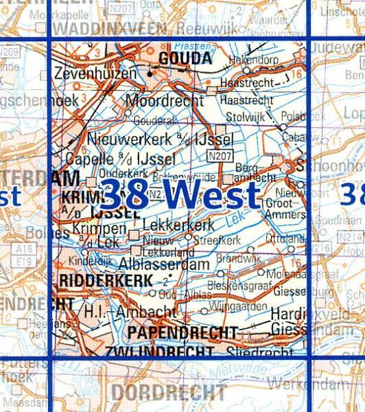 38  West 9789035000384  Topografische Dienst / Kadaster Ned. 1:50.000  Wandelkaarten Den Haag, Rotterdam en Zuid-Holland