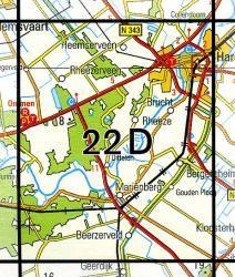 22D Hardenberg 1:25.000 9789035002234  Topografische Dienst / Kadaster Topografische Kaart  Wandelkaarten Twente