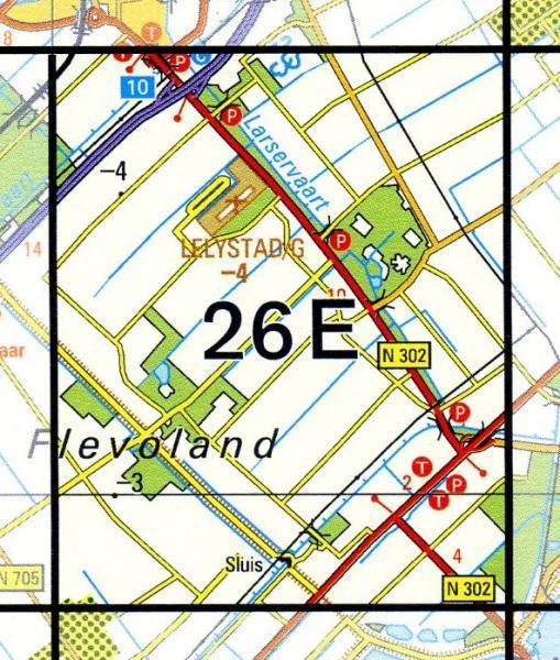 26E  Larserbos 1:25.000 9789035002647  Topografische Dienst / Kadaster Topografische Kaart  Wandelkaarten Flevoland en het IJsselmeer