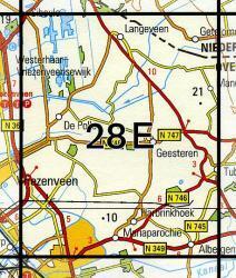 28E Geesteren 1:25.000 9789035002845  Topografische Dienst / Kadaster Topografische Kaart  Wandelkaarten Twente
