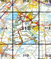 31B  Uithoorn 1:25.000 9789035003118  Topografische Dienst / Kadaster Topografische Kaart  Wandelkaarten Noord-Holland