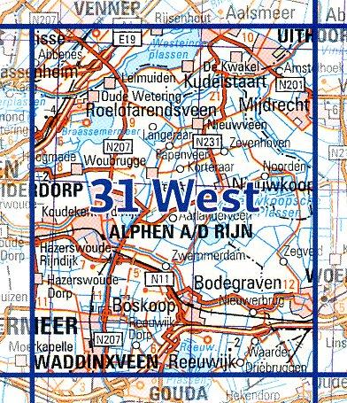 31  West 9789035003187  Topografische Dienst / Kadaster Ned. 1:50.000  Wandelkaarten Den Haag, Rotterdam en Zuid-Holland