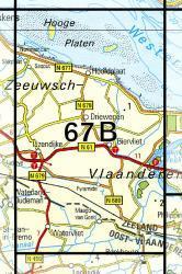 67B  IJzendijke 1:25.000 9789035006713  Topografische Dienst / Kadaster Topografische Kaart  Wandelkaarten Zeeland