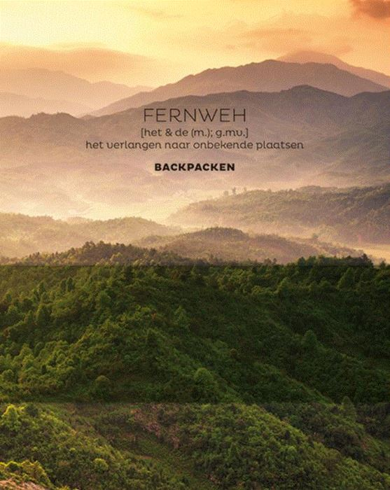 FERNWEH Backpacken 9789045323985  BBNC   Cadeau-artikelen, Reisgidsen Wereld als geheel