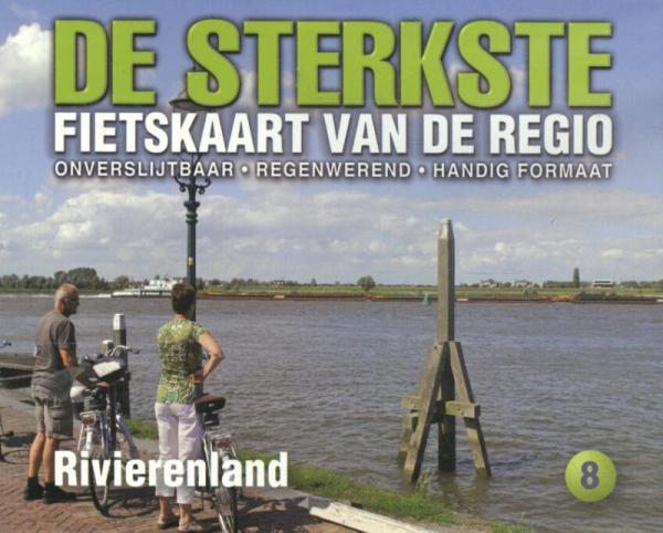 DSF-08 De Sterkste Fietskaart Rivierenland 1:50.000 9789058817228  Buijten & Schipperheijn DSF  Fietskaarten Nijmegen en het Rivierengebied