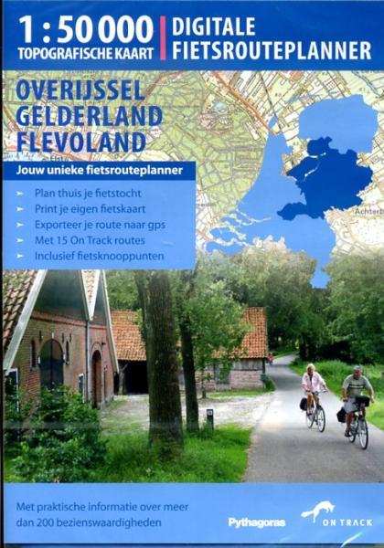 Fietsplanner Overijssel, Gelderland, Flevoland 9789077431047  Unieboek - On Track Digitale fietsrouteplanners  Fietsgidsen Oost Nederland