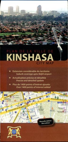 Kinshasa city map 9789078131007  Kinshasa   Stadsplattegronden Centraal-Afrika: Kameroen, Centraal-Afrikaanse Republiek, Equatoriaal Guinee, Gabon, Congo