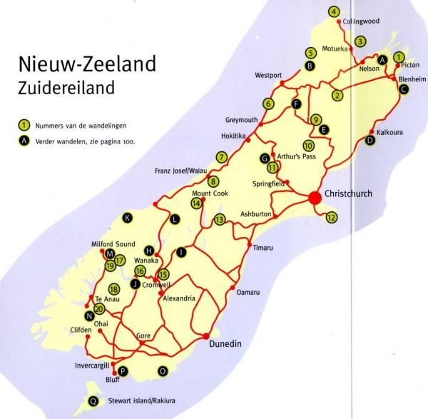 Wandelen in Nieuw-Zeeland: Zuidereiland 9789078194149 Paul van Bodengraven en Marco Barten Smaakmakers / One Day Walks   Wandelgidsen Nieuw Zeeland