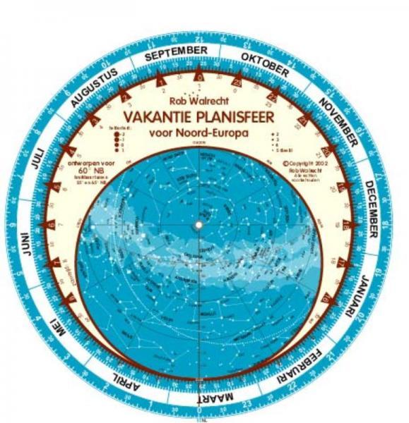 Vakantie Planisfeer Noord-Europa 9789080149687  Rob Walrecht   Natuurgidsen Scandinavië & de Baltische Staten