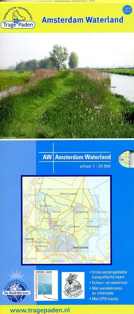 AW  Amsterdam Waterland | wandelkaart 1:25.000 9789081396103 red.: De Noorderzon, Lopende Zaken, Pied à Terre De Noorderzon Trage Paden  Wandelkaarten Amsterdam, Noord-Holland