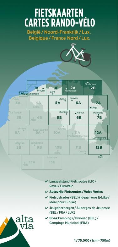 ALV-02  Provincie Antwerpen & Limburg 1:75.000 9789082714418  Alta Via   Fietskaarten Vlaanderen & Brussel
