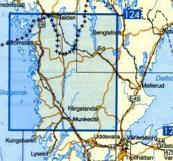 VK-119  Stromstad 1:100.000 9789158801196  Kartförlaget - Lantmäteriet Vägkartan  Landkaarten en wegenkaarten Zuid-Zweden