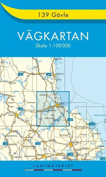 VK-139 Gävle 9789158801394  Kartförlaget - Lantmäteriet Vägkartan  Landkaarten en wegenkaarten Zweden boven Uppsala