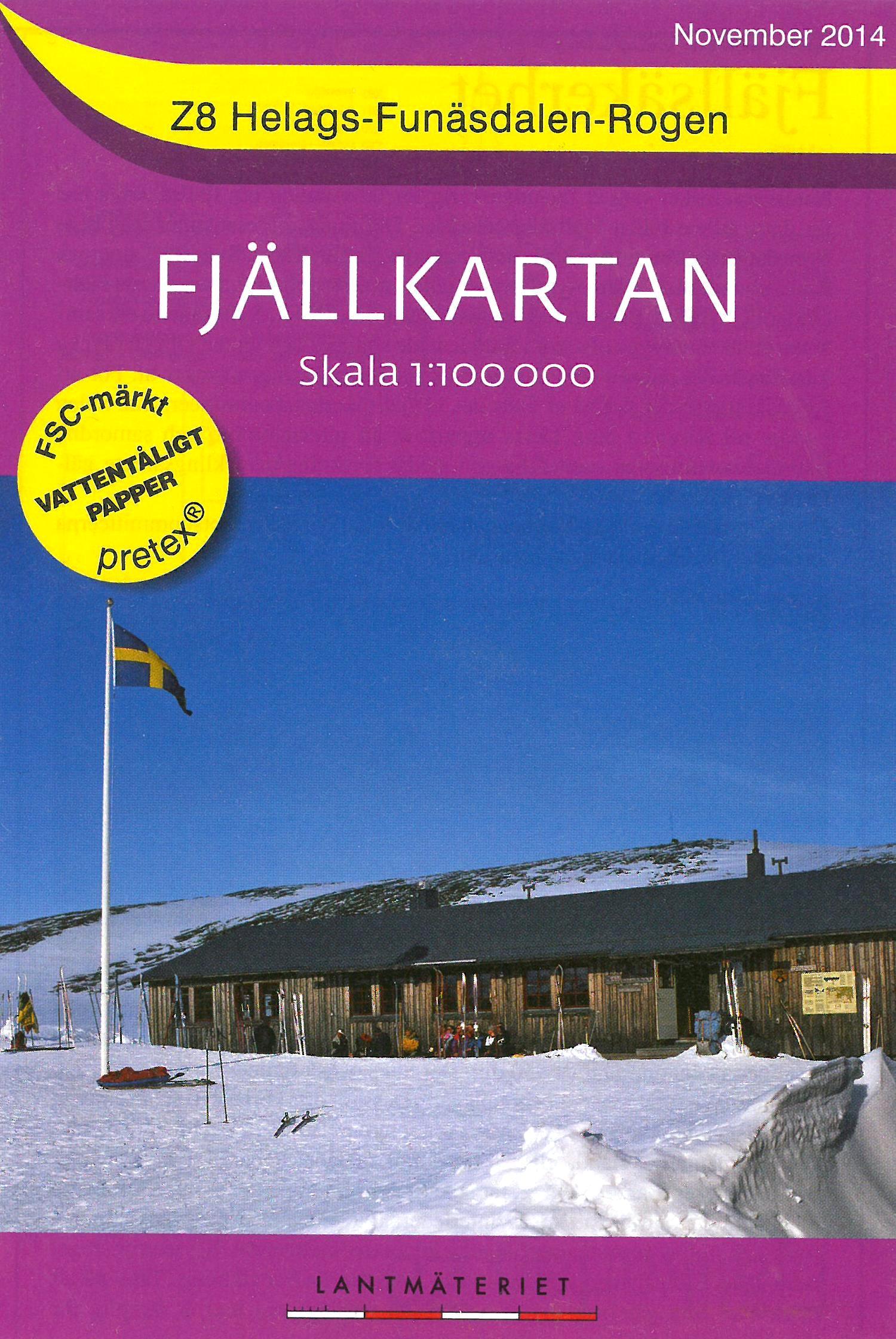 Z-8  Helags - Funasdalen - Rogen 1:100.000 9789158895706  Kartförlaget - Lantmäteriet Fjällkartan  Wandelkaarten Zweden boven Uppsala