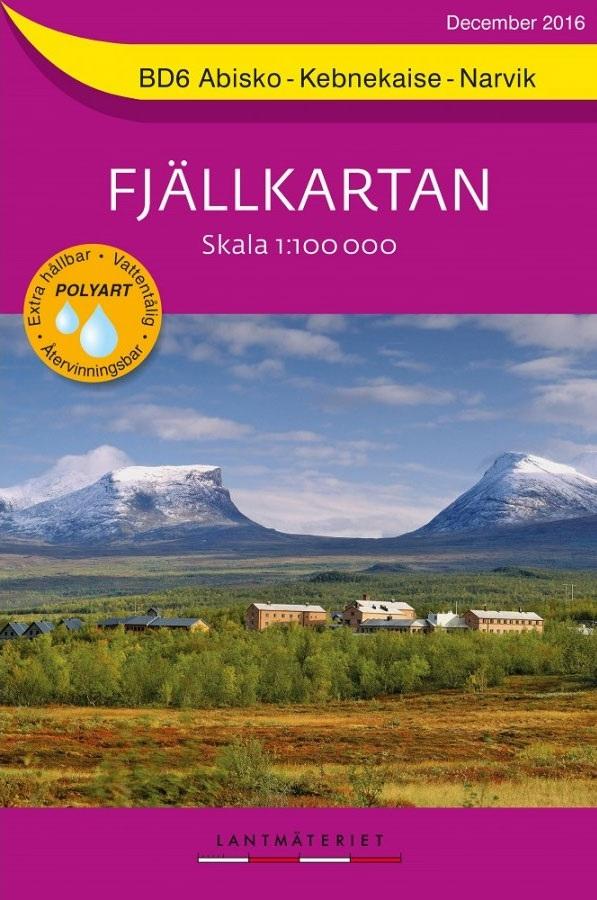 BD-06  Abisko - Kebnekaise - Narvik 1:100.000 9789158895843  Kartförlaget - Lantmäteriet Fjällkartan  Wandelkaarten Zweden boven Uppsala