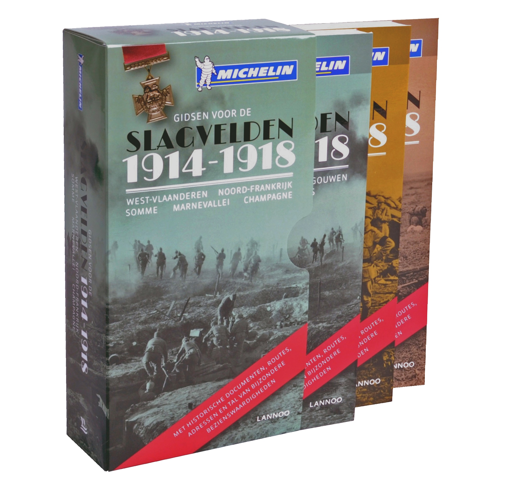 De slagvelden van 1914-1918 | complete set 9789401436397  Lannoo   Historische reisgidsen, Landeninformatie, Reisgidsen Europa