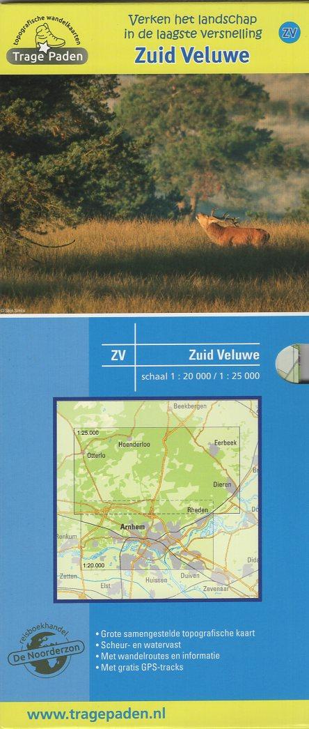 ZV  Zuid-Veluwe  | wandelkaart 1:20.000 / 25.000 9789491767012 Samenstelling en routes Leon Receveur De Noorderzon Trage Paden  Cadeau-artikelen, Wandelkaarten Arnhem en de Veluwe