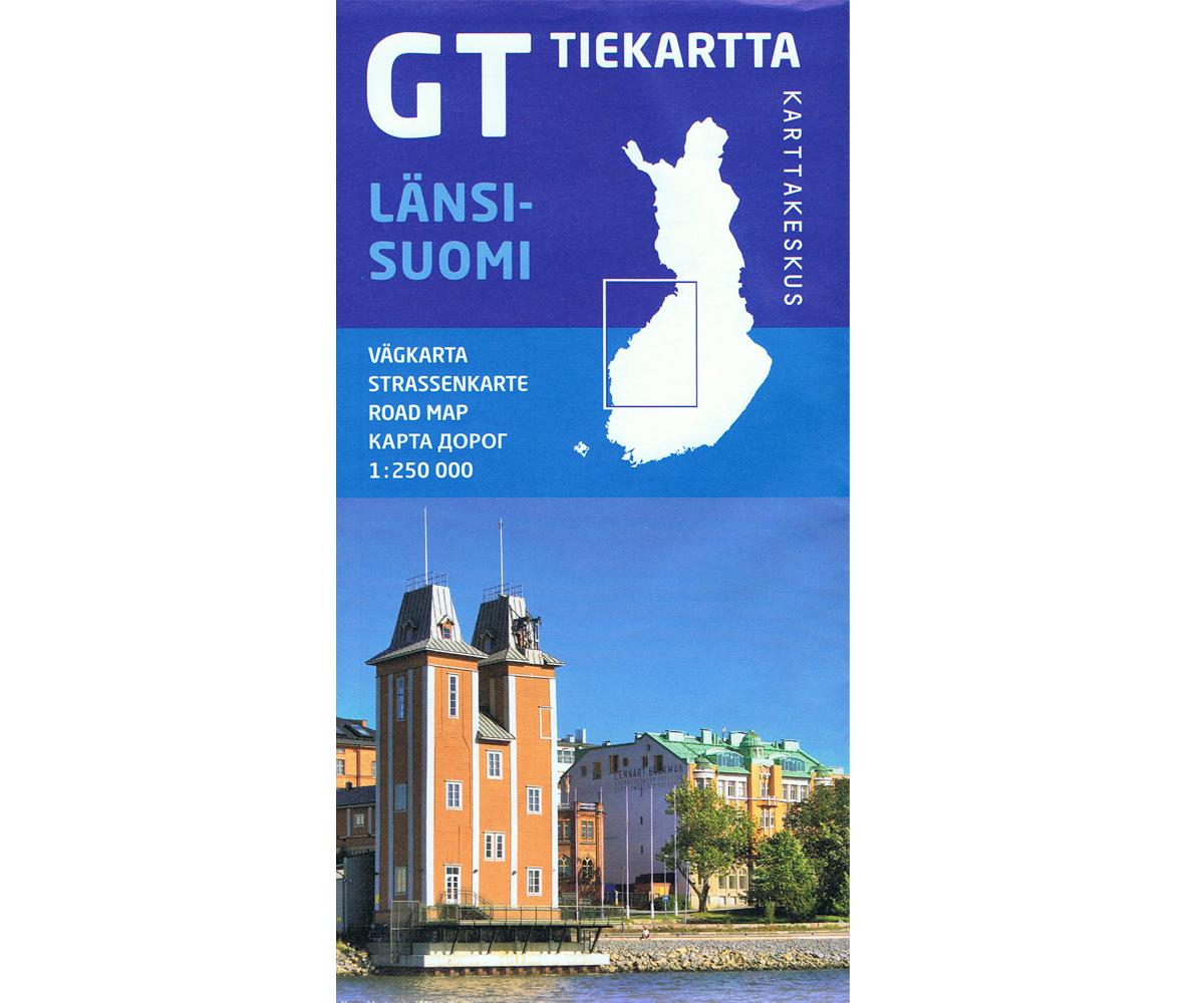 GT Tiekartta Länsi-Suomi    West-Finland 1:250.000 9789522660978  Genimap Oy   Landkaarten en wegenkaarten Finland