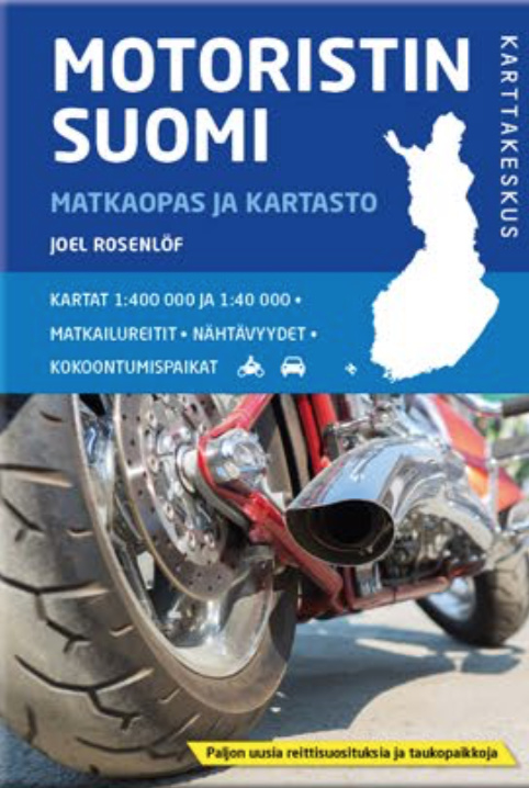 Motoristin Suomi   Wegenatlas Finland 1/400.000 9789522665263  Genimap Oy Wegenatlassen  Wegenatlassen Finland