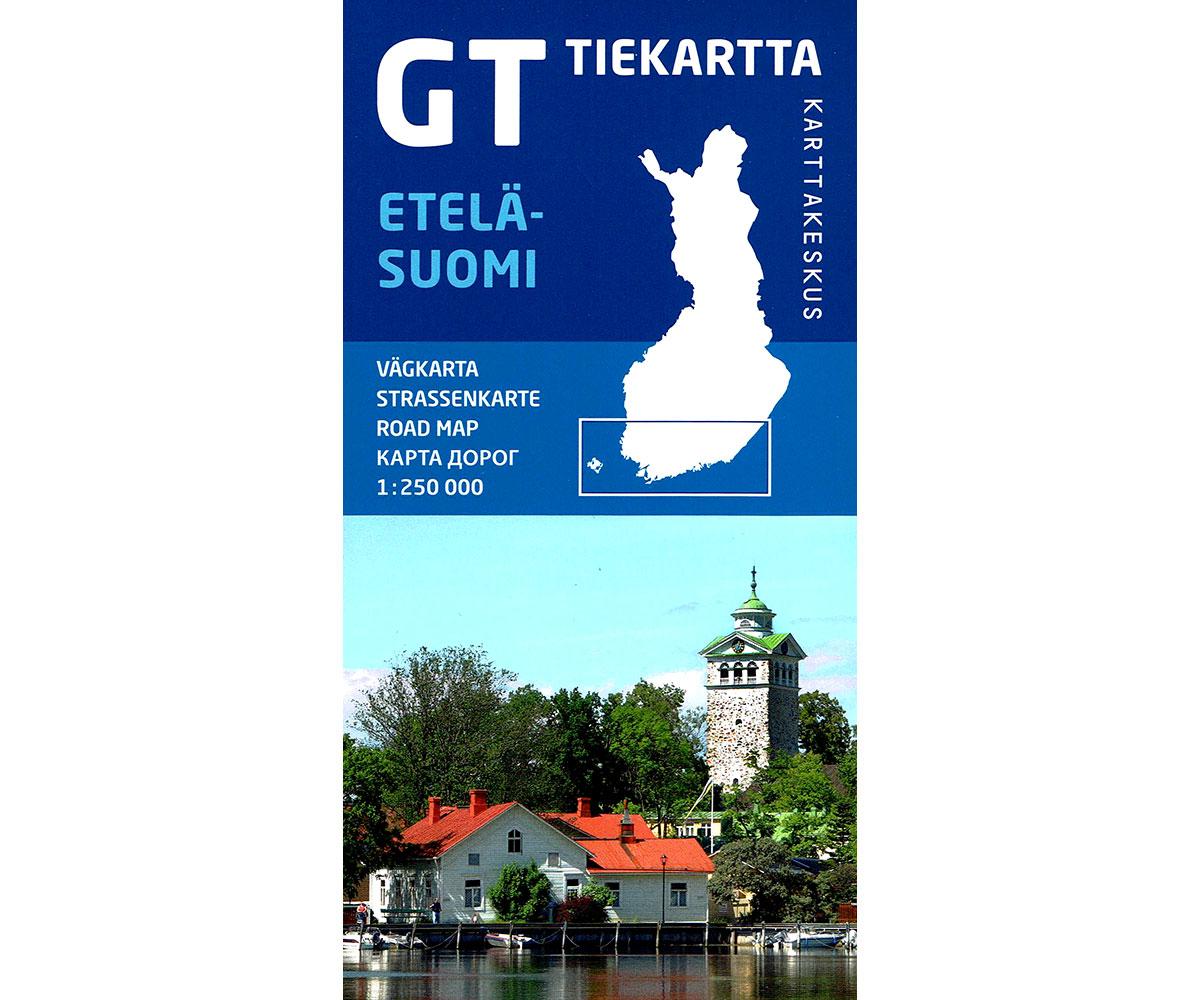 GT Tiekartta Etelä-Suomi   Zuid-Finland 1:250.000 9789522665454  Genimap Oy   Landkaarten en wegenkaarten Finland