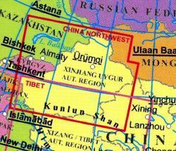 China Northwest 1:2.000.000 (sheet 4) 9789630080514  Gizi Map   Landkaarten en wegenkaarten China (Tibet: zie Himalaya)