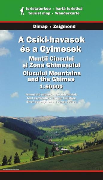 DMP-11  Ciucului mountains & the Ghimes | wandelkaart 1:60.000 9789630391276  Dimap Wandelkaarten Roemenië  Wandelkaarten Roemenië, Moldavië